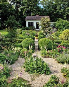 Kitchen gardens can be beautiful. Paige Dickey's herb garden. Image via Martha Stewart Living.