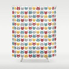 Kittens pattern Shower Curtain