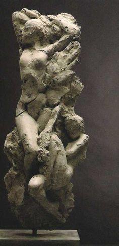 Nudes, Female sculpture by artist Dylan Lewis titled: 'S267 Trans-Figure XVII Maquette' #sculpture #art