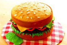 Hamburger Cake 4