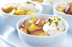 Sauteed fruit with honey-vanilla Ricotta!  I've been wanting to make my own Ricotta.  #recipe, #summer, #dessert