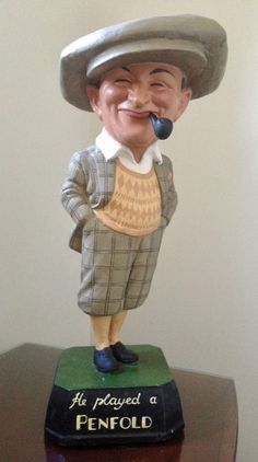 "Early 1900s ""HE PLAYED A PENFOLD"" Penfold Man golf ball advertising Figure"