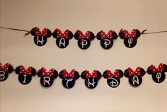 Minnie Mouse Birthday Banner Minnie Mouse por LisasPartyShoppe