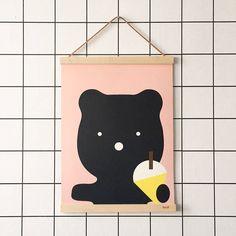 Bear Ice Cream Print