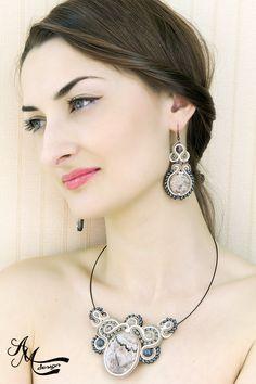 Soutache jewelry by AMDesign soutache necklace and soutache earrings