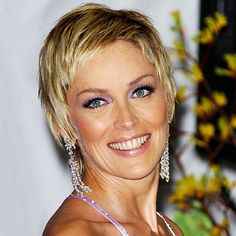 Sharon Stone - 2004 - Sharon Stone - Transformation - Hair - InStyle - with longer bangs
