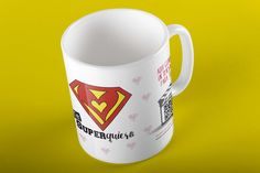 "Taza QR cardMagic. ""Te Superquiero"" Puedes subir al QR un vídeo o fotos. Videos, Mugs, Tableware, Pictures, Dinnerware, Tumblers, Tablewares, Mug, Dishes"