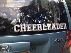 CHEERLEADER Decal via TEAM CHEER APPAREL. Click on the image to see more!