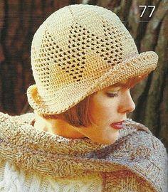 Straw Hat free crochet graph pattern