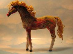 needle felt horses | Colossus needle felted horse NEWLY REDONE by feltability on Etsy