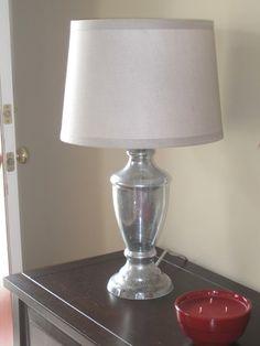 Mercury Glass Lamp On Pinterest