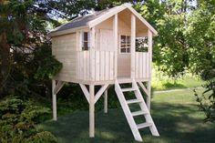 Stelzenhaus Kai Natur aus Holz unbehandelt 2