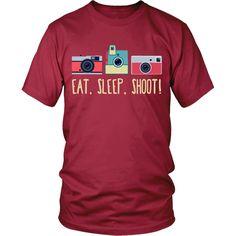 Eat, Sleep, Shoot! Photography T-shirt