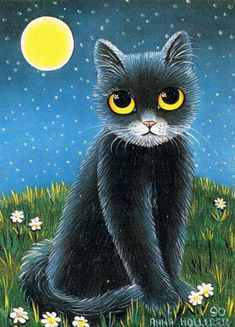 """Night Cat"" par Anna Hollerer"