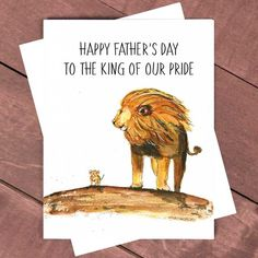 Lion Dad Card Happy Father's Day Card Lion King Card For Dad Best Dad Gift Father And Son Lion Card For Father Love You Dad I Love Dad by LiyanaStudio now at https://ift.tt/2KSYlIi
