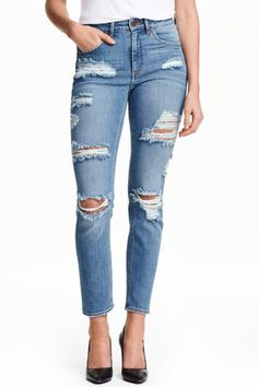 Ripped Slim Ankle Jeans from H&M R589,90