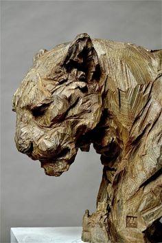 Jürgen LINGL-REBETEZ Sculpteur sur bois Galerie Platini Annecy Lyon Animal Statues, Animal Sculptures, Sculpture Art, Mountain Lion, Woodcarving, Archetypes, Tree Art, Wood Art, Lions