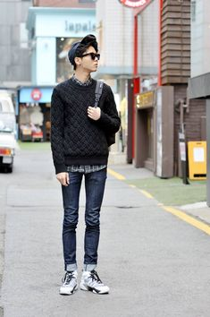 Joo U Jae (Model) Men's Street Style , korea Seoul 2014 mar 19