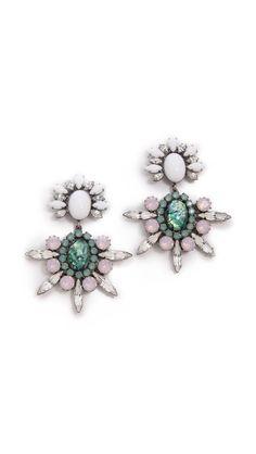Dannijo - Mika Earrings (in White Multi) www.shopbop.com $445.00