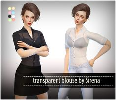 Ladesire Creative Corner: Transparent blouse by Sirena • Sims 4 Downloads  Check more at http://sims4downloads.net/ladesire-creative-corner-transparent-blouse-by-sirena/