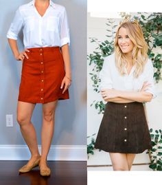 outfit post: white portofino shirt, suede rust button front mini skirt, nude cutout flats http://outfitposts.com/2016/05/outfit-post-white-portofino-shirt-suede-rust-button-front-mini-skirt.html?utm_campaign=coschedule&utm_source=pinterest&utm_medium=Outfit%20Posts&utm_content=outfit%20post%3A%20white%20portofino%20shirt%2C%20suede%20rust%20button%20front%20mini%20skirt%2C%20nude%20cutout%20flats