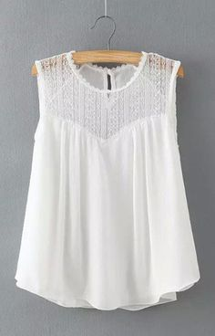 Bohemian Lace Tank-Top Blouse
