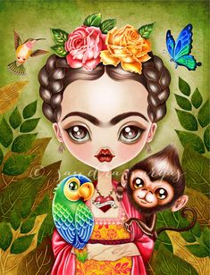 Frida Querida | New artwork! Available at RedBubble Society6… | Sandra Vargas | Flickr