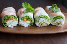 Fenséges, vietnami tavaszi tekercs otthon: ropogós és fűszeres Fresh Rolls, Tofu, Entrees, Ethnic Recipes, Ibs, Orange, Cooked Shrimp, Salad, Kitchens