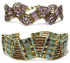 Tila Curve II Bracelet pattern at AroundTheBeadingTable.com