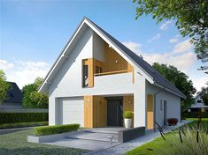 Small House Design, Modern House Design, Architectural House Plans, Attic Rooms, Home Design Plans, Facade House, Home Fashion, Women's Fashion, Shed