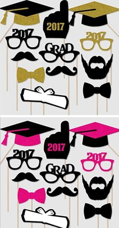 2017 Graduation Photo Booth Props | Easy Graduation Party Ideas for High School | College Graduation Decorations Ideas on a Budget