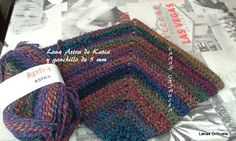 Muestra tejida con la calidad Astra de Katia en @LanasOrihuela