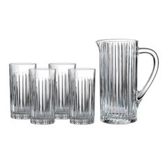 Royal Doultan Set of Four glasses with Pitcher, Retail Price $186, On Sale at Settlers Green for $49.99