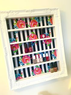"""""""Life is too short to wear boring nail polish"""" This gorgeous 16x20 organizer will be the center of attention. Not only is it functional, but it's oh so very stylish! This is the best way to keep your"""