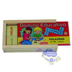 Domino de palavras, Dominó de palavras Carimbras, brinquedos Educativos, Brinquedos de Madeira, Brinquedos Didáticos, Jogos Didáticos