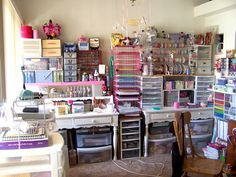 Craft room http://www.tallyscrapper.com/library/images/blog/image/Storage%20for%20Other%20Bloggers/My3Reasons/My%20scrap%20room%20001.jpg