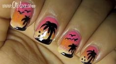 nail designs for short nails diy | DIY Nail Art: Summer Tropical Palm Trees | CDE Blog