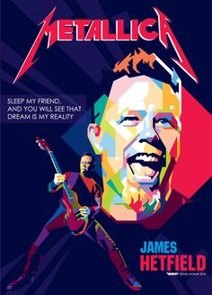 Metallica - James Hetfield - Difrats - https://nl.pinterest.com/difrats/