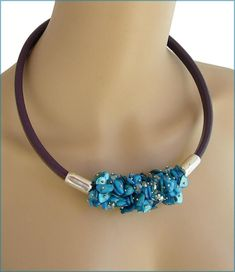 Purple leather silver / blue pearl necklace Collier Cuir Blue Pearl, Purple Leather, Pandora Charms, Pearl Necklace, Charmed, Pearls, Bracelets, Silver, Jewelry