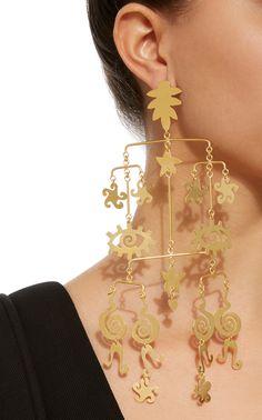 Gold-Plated Brass Mobile Earrings by Kalmar Plating, Women Jewelry, Jewelry Making, Brass, Jewellery, Jewels, Drop Earrings, Accessories, Projects