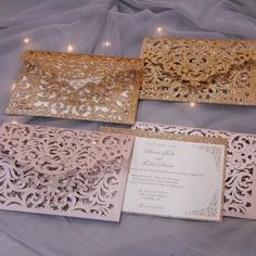Make Your Own Wedding Invitations, Quince Invitations, Cricut Wedding Invitations, Lace Invitations, Quinceanera Invitations, Wedding Invitation Wording, Wedding Cards, Our Wedding, Wedding Ideas