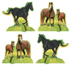 Wild Horses Centerpiece Standup, Western Party (6/case)