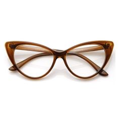 1950's Vintage Mod Fashion Cat Eye Clear Lens Glasses 8435 ❤ liked on Polyvore featuring accessories, eyewear, eyeglasses, vintage cateye glasses, clear glasses, vintage glasses, clear cat eye glasses and cat-eye glasses