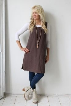 LESS IS MORE Linen Tunic, PEPPER
