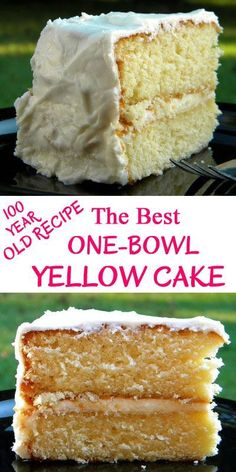 The Best One-Bowl Yellow Cake - Desserts - Kuchen Cake Recipes From Scratch, Easy Cake Recipes, Dessert Recipes, Dinner Recipes, Yellow Cake From Scratch, Dinner Ideas, Breakfast Recipes, Old Recipes, Baking Recipes