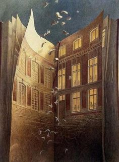 """Surreal art From the """"Les Cités Obscures"""" (The Obscure Cities aka Cities of the Fantastic) series of graphic novels © François Schuiten (Artist, Belgium) & Benoît Peeters (Author) World Of Books, I Love Books, Read Books, Altered Books, Surreal Art, Book Illustration, Digital Illustration, Les Oeuvres, Book Lovers"""
