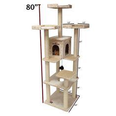 Casita Cat Furniture Tree Condo House Scratcher Pet Furniture By Majestic Pet - I Heart My Cats Cat Activity, Tree Furniture, Cat Perch, Cat Playground, Sisal Rope, Cat Condo, Pet Accessories, Furla, All Modern