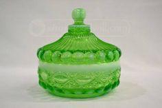 shopgoodwill.com: Vintage Vaseline Glass Mosser 5.5` dia Candy dish
