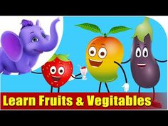 Lets Learn Fruits & Vegetables - Preschool Learning - - Easy To Digest Foods, Low Fat Cheese, Low Fat Yogurt, Diy Crafts To Do, Multigrain, Cereal Recipes, High Protein Recipes, Preschool Learning, Evening Meals