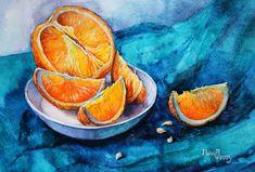 Oranges on blue by vasoiko on DeviantArt